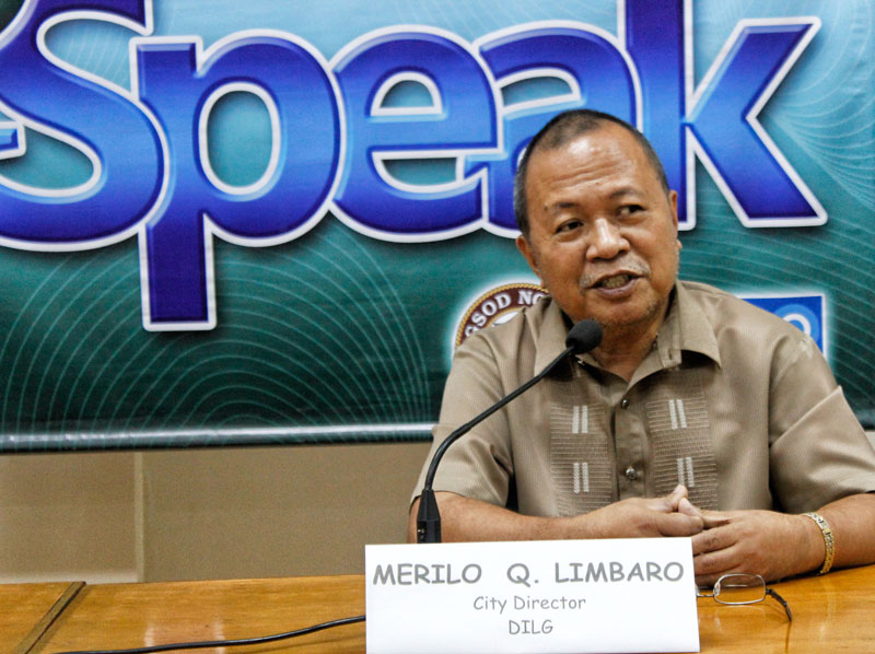 PROTOCOL.  Merilo Limbaro, Director of the Department of Interior and Local Government in Davao City, says there's already an existing ordinance for the liquor ban.  Should Mayor Rodrigo Duterte wish to adjust the time, he said, it would have to pass through the City Council.  He guested on Thursday's Ispeak, the first since the mayor assumed office.  (davaotoday.com photo by Medel V. Hernani)