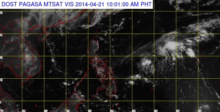 PAG-ASA: LPA spotted off E.Samar may develop into a cyclone