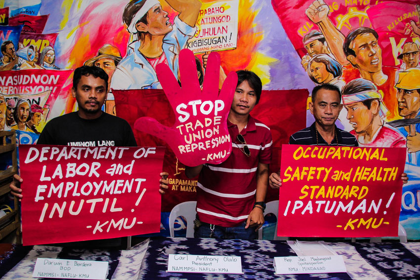 Labor unions in Comval struggle to secure lives amid military harassments