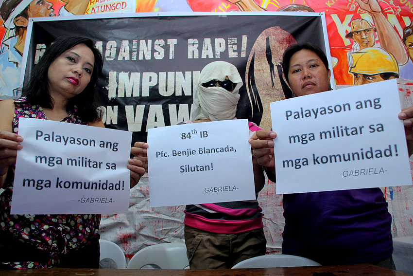 Military encampment of communities results to VAW – women's group say