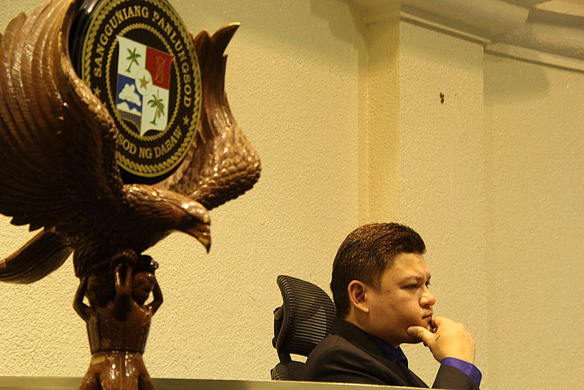 Vice Mayor Paolo Duterte presides during the 2nd Session of the council. (Ace R. Morandante/davaotoday.com)