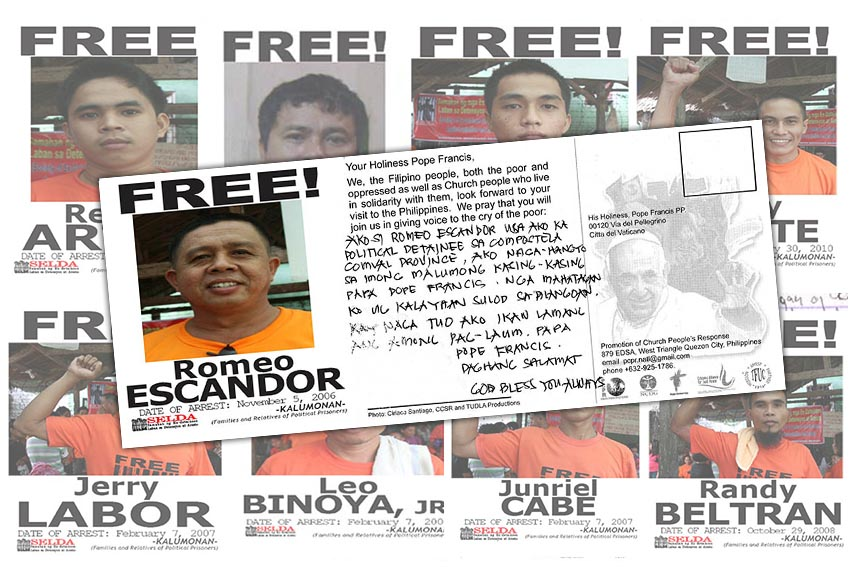 LOOK: Messages of political prisoners in Davao Region for Pope Francis