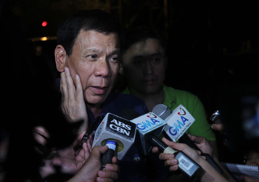 Duterte says list of senatorial bets on his slate to come out before Dec.10
