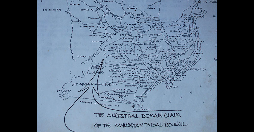 Ancestral Domain Claim of the Kahusayan Tribal Council, image from Ancestral Domain Claim application of the Bagobo-Klata filed before the National Commission on Indigenous Peoples