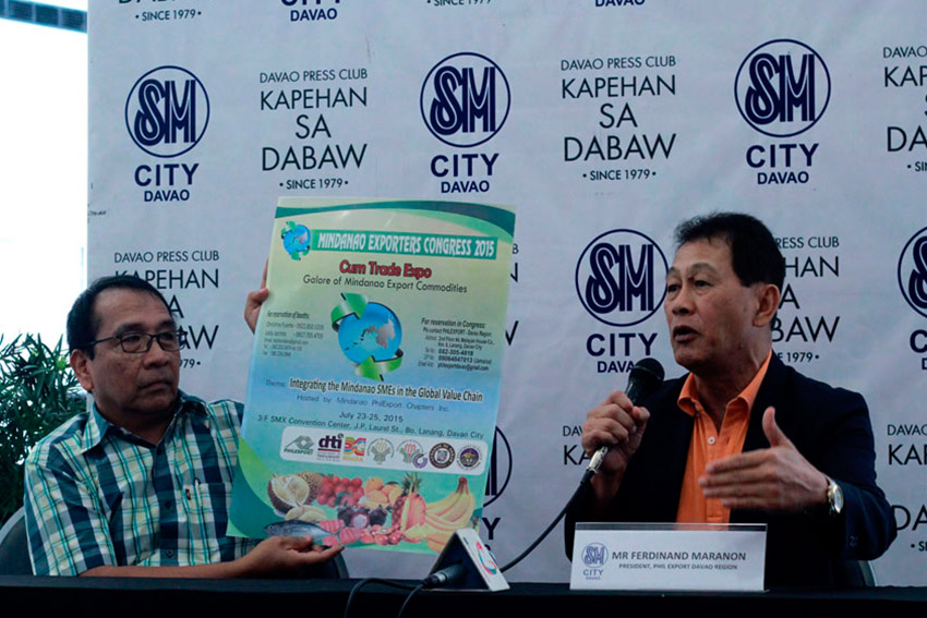 Ferdinand Marañon, president of Philippine Exporters Confederation Inc. (Philexport) in Davao Region gives updates on the upcoming Mindanao Exporters Congress 2015 which will be held at the SMX Convention Center in Lanang, Davao City this coming July 23 to 25 wherein around 200 exporters in Mindanao will participate.(Ace R. Morandante/davaotoday.com)