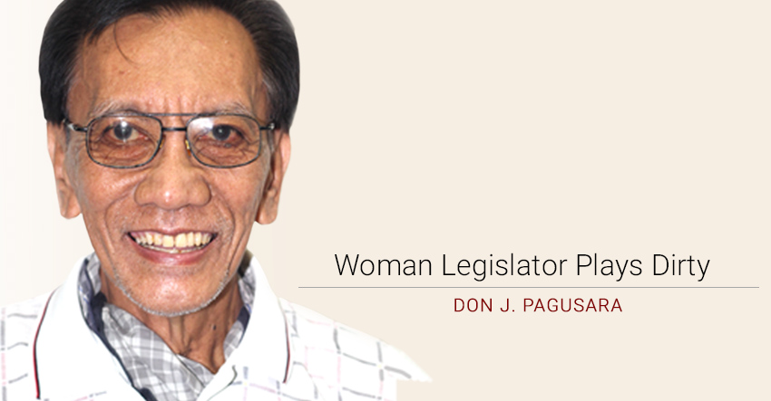 Woman Legislator Plays Dirty