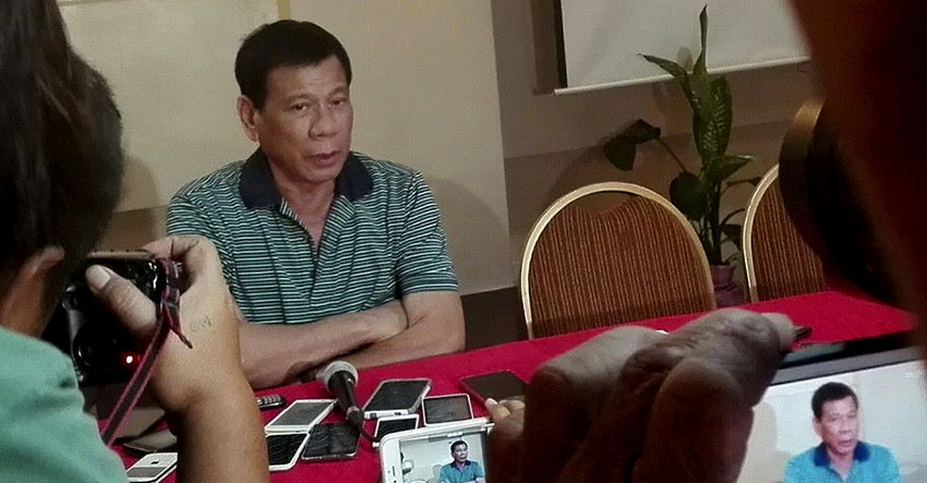 "Duterte says ""God told me nothing"", asks supporters to stop"