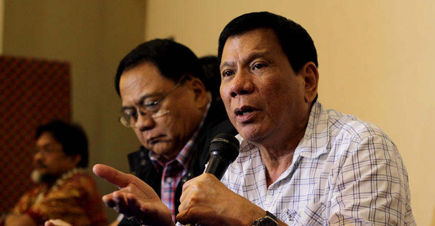 Davao City Mayor and PDP-Laban standard bearer Rodrigo Duterte. (File photo)