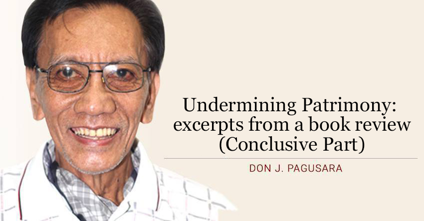 Undermining Patrimony: excerpts from a book review  (Conclusive Part)