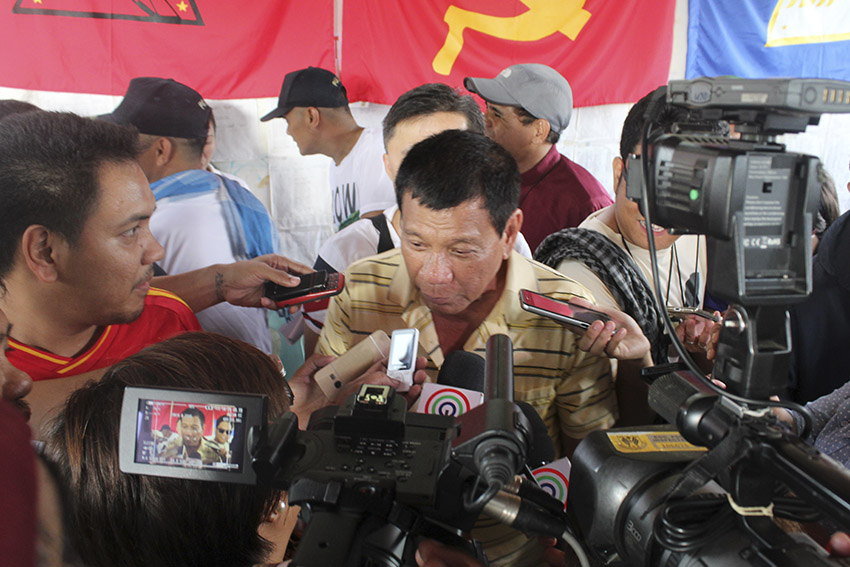 Davao City Mayor Rodrigo Duterte says that this is his 36th time to receive the New People's Army's prisoners. He said that there are still other prisoners by the NPA that will be turned over to him. (Earl O. Condeza/davaotoday.com)