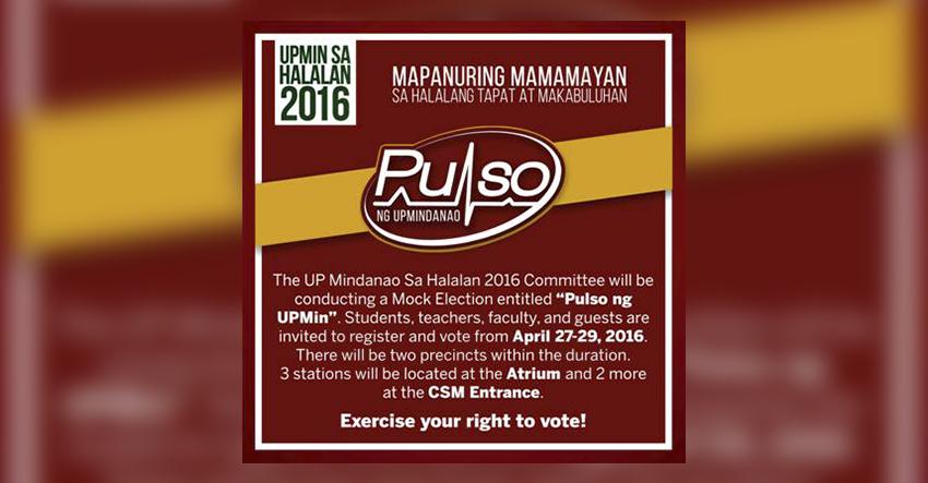 Duterte, Cayetano top UP Mindanao mock election