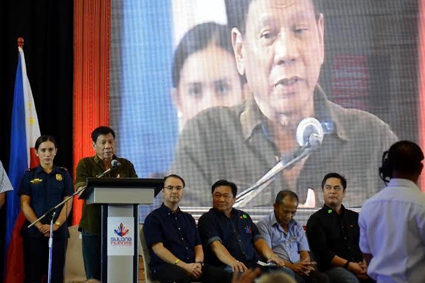 President-elect Rodrigo Duterte says he will consider the 10 recommendations of the 450 business leaders delegates during the culmination of the two-day consultative workshop forum at the SMX Convention Center in Lanang, Davao City on Tuesday, June 21. (Ace R. Morandante/davaotoday.com)