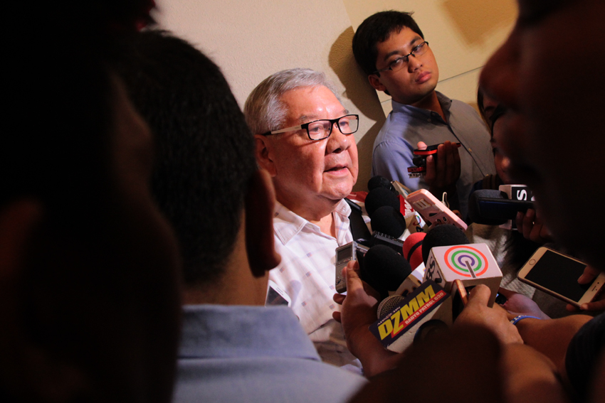 COALITION. House Speaker Feliciano Belmonte visits Davao City on Tuesday to meet with President-elect Rodrigo Duterte. He said at the moment they are talking for a possible coalition with Duterte's party, Partido Demokratiko Pilipino-Laban ng Bayan (PDP Laban). He also clarified that the coalition with PDP-laban only applies to some members of the House of Representative and not the Liberal Party as a whole.(Ace R. Morandante/davaotoday.com)
