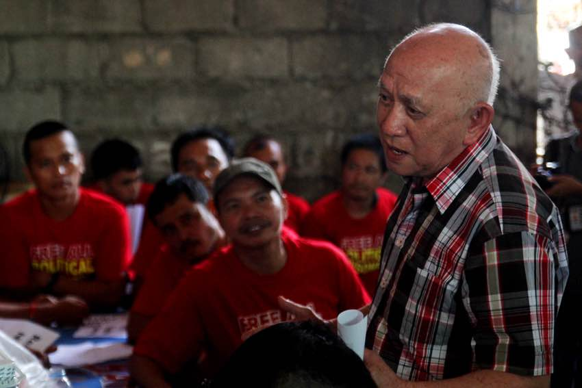 National Democratic Front spokesman  Fidel Agcaoili visits 34 political prisoners at the Davao del Norte Provincial Jail, Thursday to get update on their situation. Incoming President Rodrigo Duterte has already announced its willingness to grant general amnesty to all political prisoners. (Ace R. Morandante/davaotoday.com)