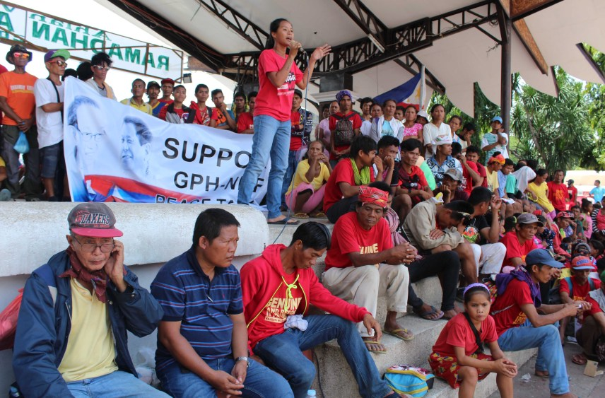 Hundreds of farmers and Lumad from outside Davao region gather at the Rizal Park in Davao City to express their support for President Rodrigo Duterte who took his oath on Thursday, June 30.(Medel V. Hernani/davaotoday.com)