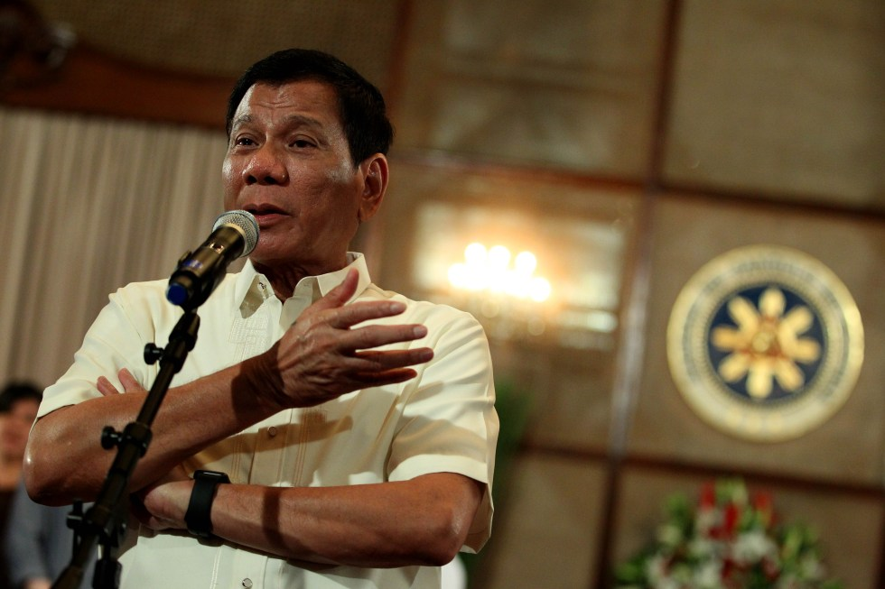 President Rodrigo R. Duterte answers queries from members of the media after administering the oath of office for the newly-appointed undersecretaries of different government agencies at the Rizal Hall of the Malacañan Palace on August 1, 2016. ACE MORANDANTE/PPD