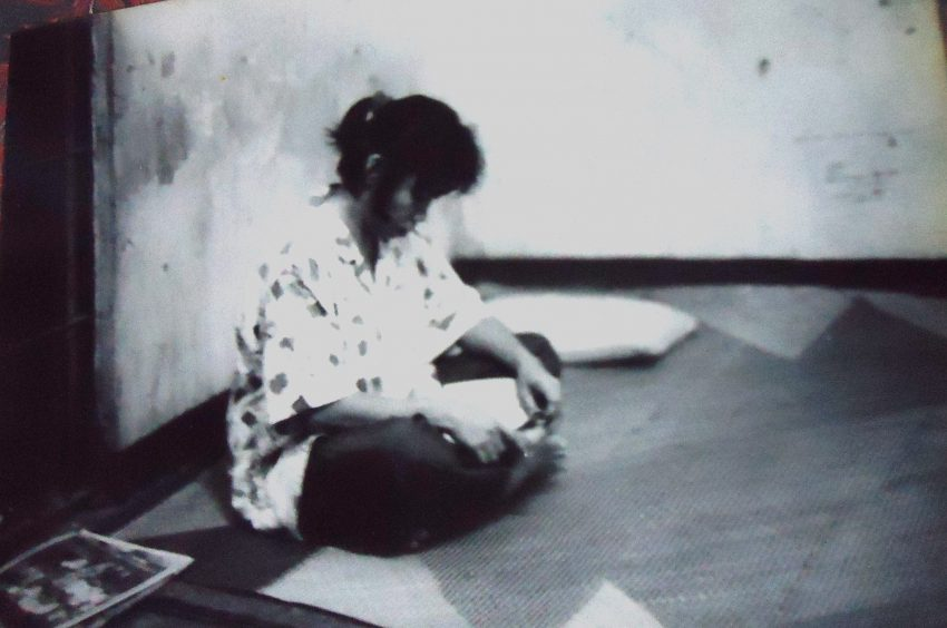 Grace Mahinay during her detention in Camp Domingo Leonor in Davao City in 1990. (Photo from Grace Mahinay)