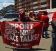 SUPPORT FOR PEACE TALKS