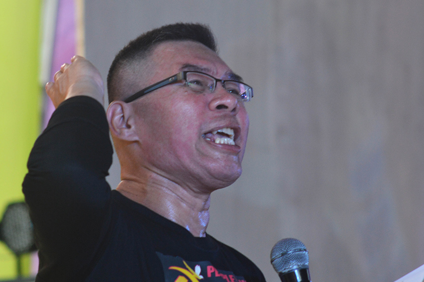 Ka Joaquin, a Red fighter, said that both military and paramilitary troops are still being deployed in the communities to conduct counter-revolutionary operations. (Medel V. Hernani/davaotoday.com)