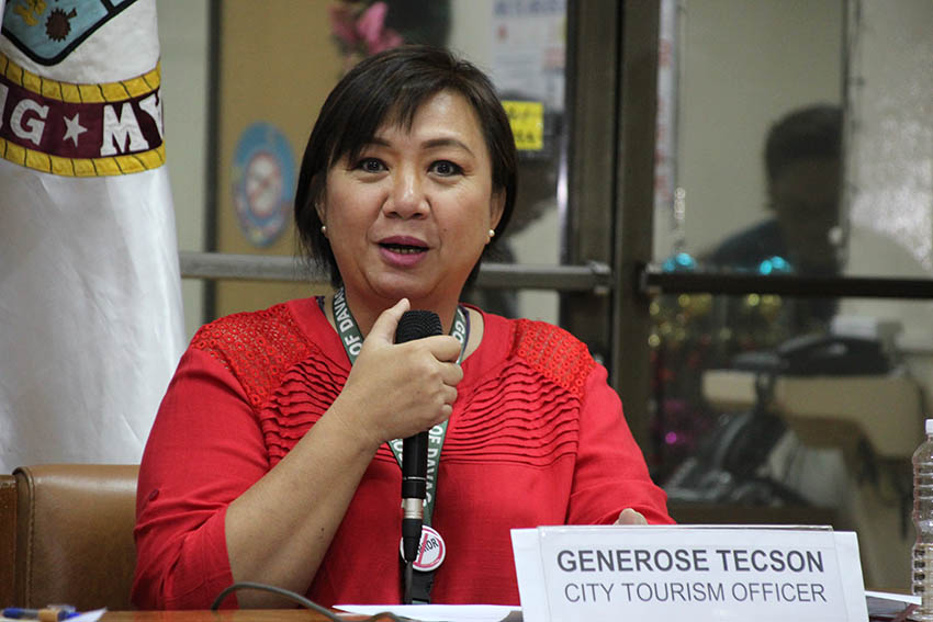 "Generose Tecson, Davao City tourism officer announces on Thursday, January 4 the ""Life is Here"" Logo Design Competition, which looks to residents of Davao City to encapsulate their own interpretation of the tagline into a new logo. The winning logo will replace the original made by Rey ""Bai"" Manginsay in 2011. (Paulo C. Rizal/davaotoday.com)"