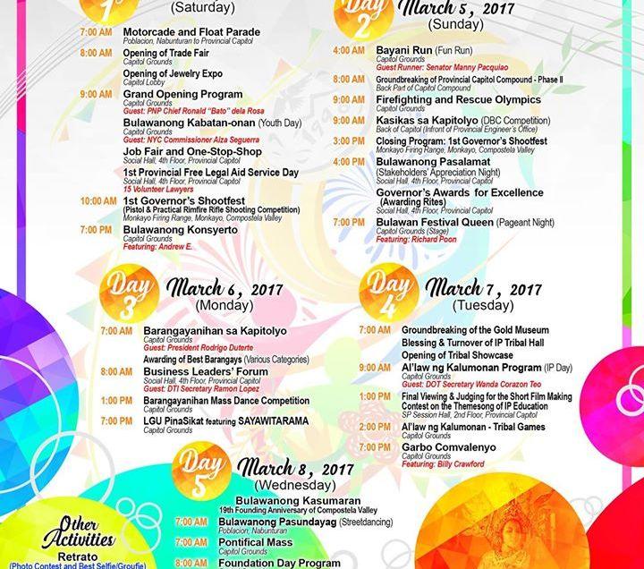 Comval to celebrate 10th Bulawan Festival