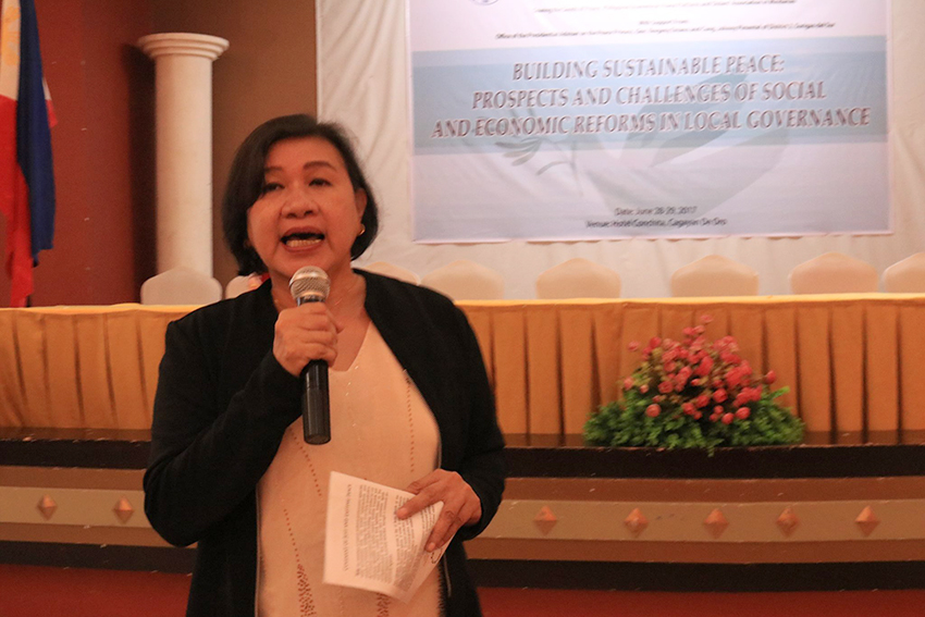 NAPC peace forum: 'Peace process is about people at the grassroots'