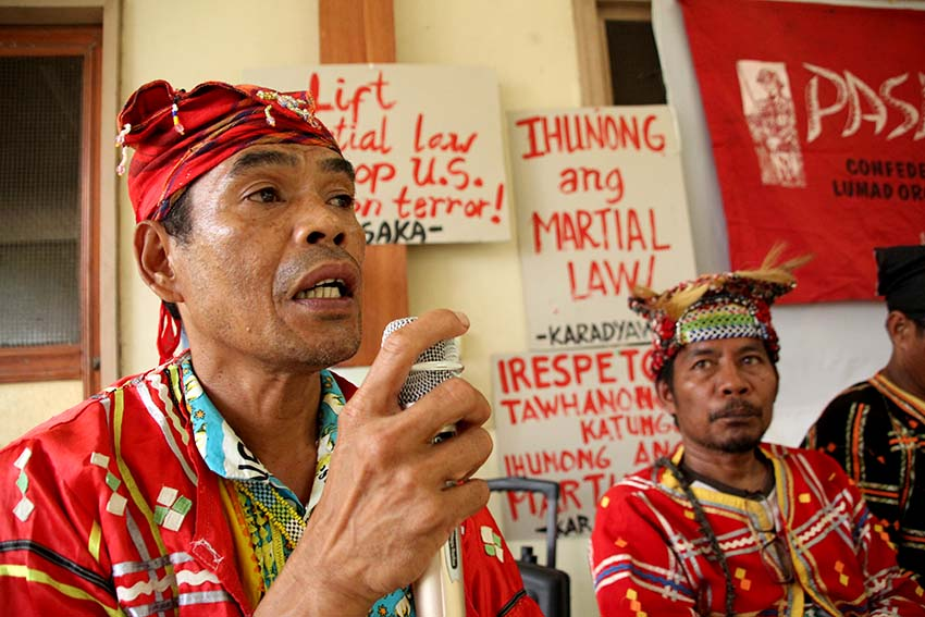 Lumad groups hit Duterte for failed promises