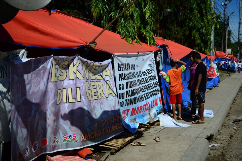Lumad student cries sexual molestation by suspected intel operative in protest camp