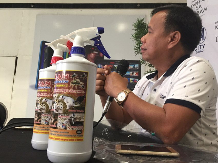 Davao firm develops product that removes odor in animal waste