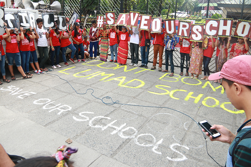 Salugpongan schools decry harassment, military presence during opening of classes