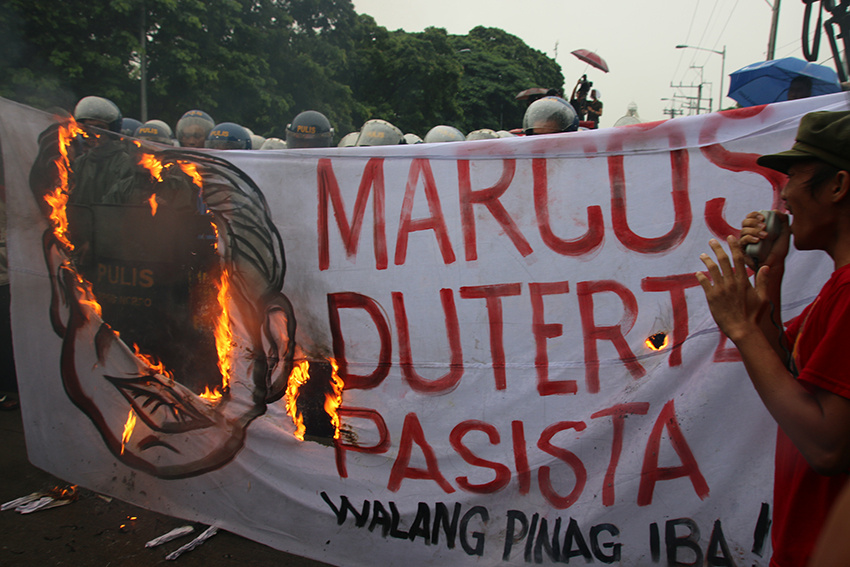 PROTEST ON MARCOS' CENTENNIAL