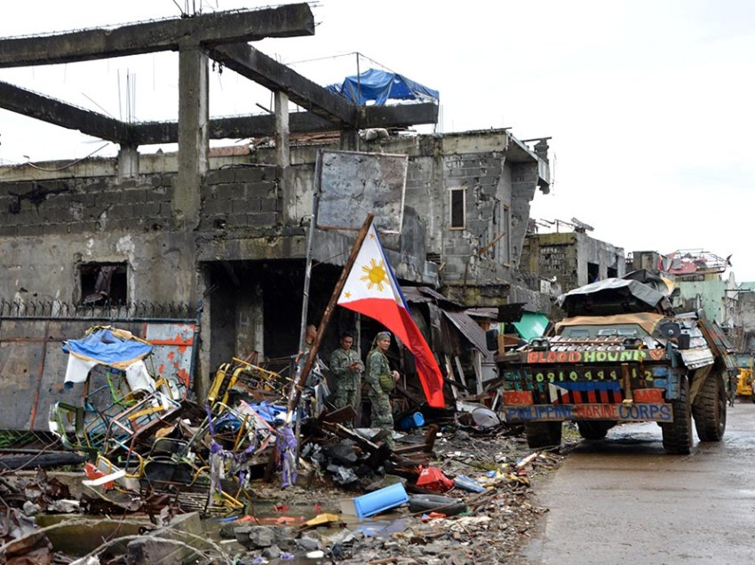 Task Force Marawi continues to pullout troops as fighting 'weakens'
