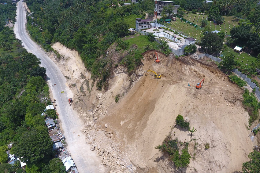 Davao City opens landslide-hit section of Diversion Road