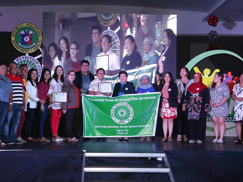 Tagum receives P1M for winning nutrition program contest