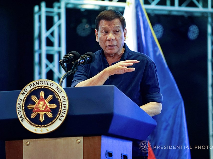 Duterte: If PH goes down, human rights can't help us