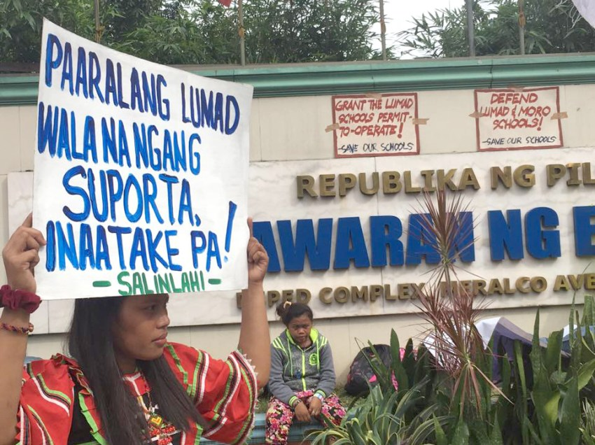 INFOGRAPHIC: Why are Lumad students protesting against DepEd?