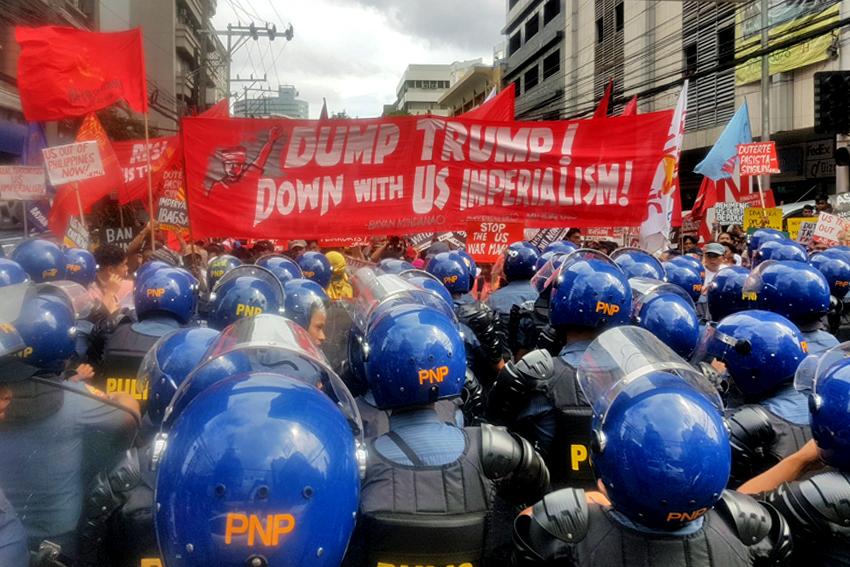 500 Lumad, Moro join #BanTrump protest in Manila