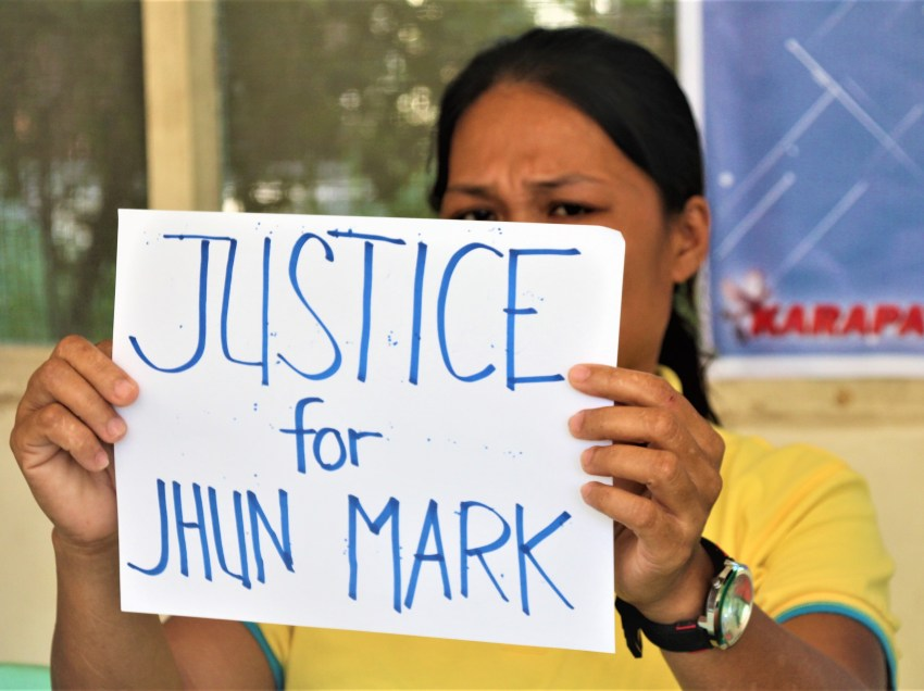 Mother of slain minor forced to admit son as NPA