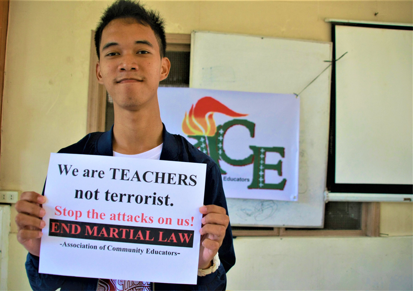 Lumad school volunteer teacher recalls saddest birthday