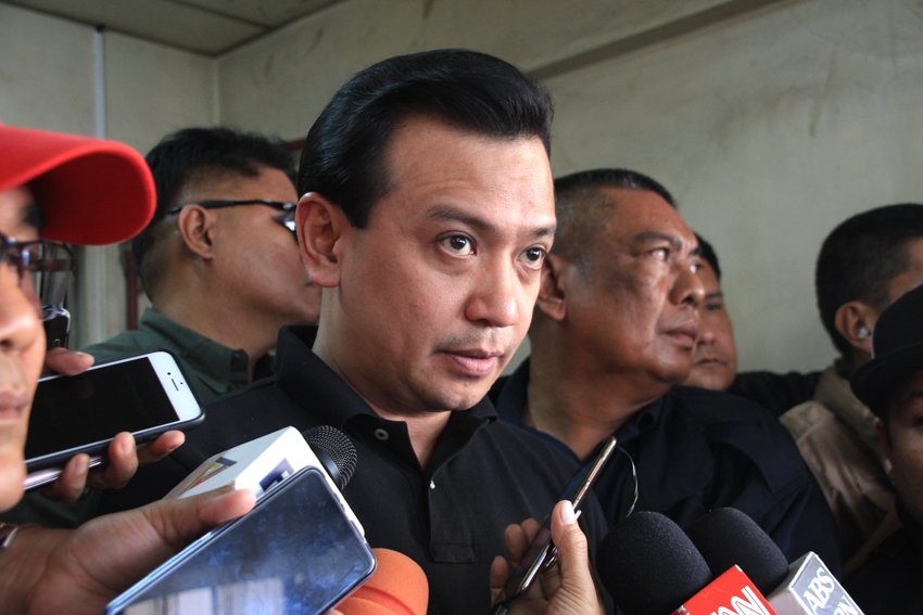 Sen. Trillanes faces Davao court, tells accusers to prepare for challenges