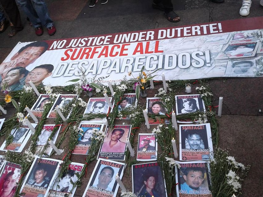Desaparecidos to UN: Don't believe Duterte's HR claims