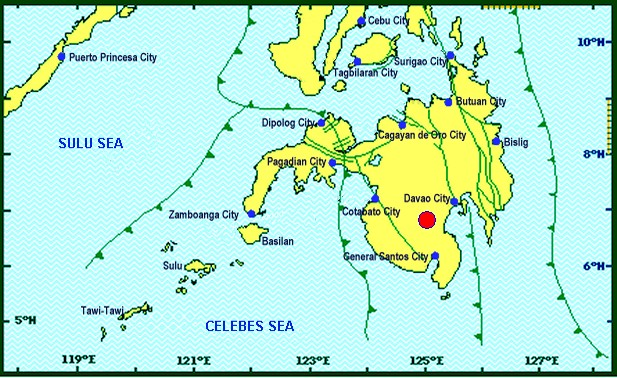 Strong quake once again felt in parts of Mindanao