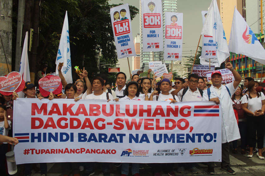 Proposed pay hike of Duterte not satisfactory