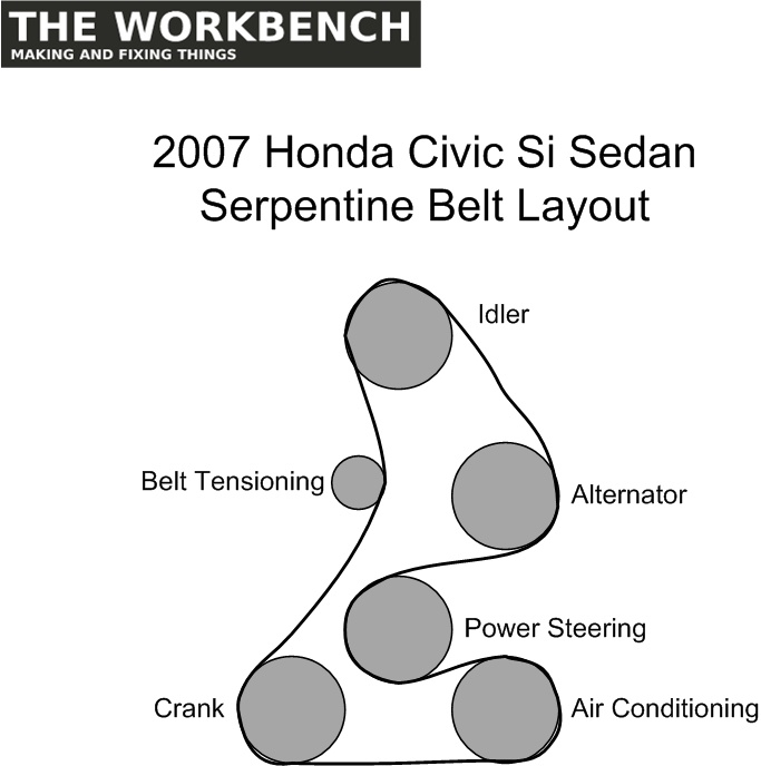 2008 honda civic serpentine belt routing