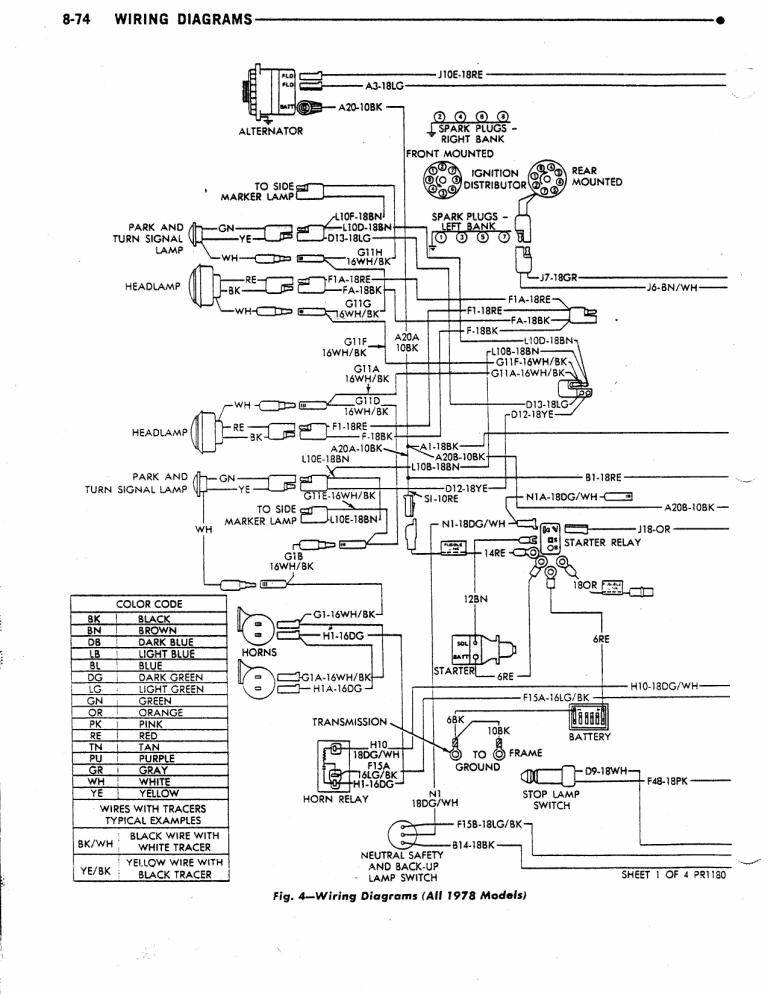 Dave\u0027s Place - 78 Dodge Class A Chassis Wiring Diagram