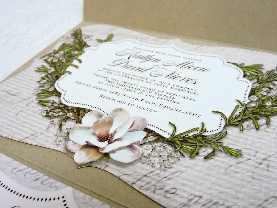 Burgundy Wedding Invitation Package Design - Dave Nieves Designs