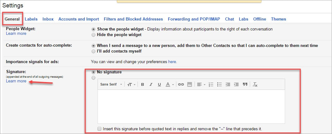 how to create a signature in gmail - Dave Ruch