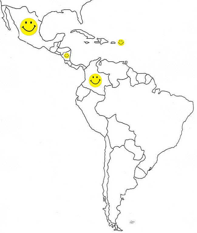 Blank Map of Latin America 1001 - Dave Ruch