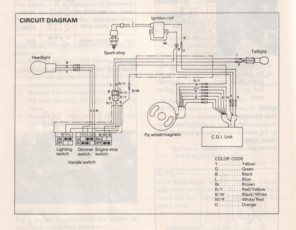 yamaha dt 125 wiring diagram