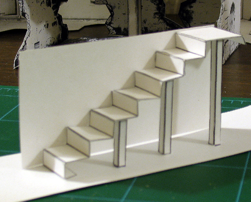 Treppenaufgang Tapezieren New Stairs Design For New Models | Cardboard Warriors Forum